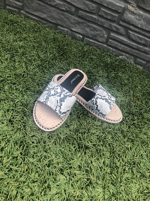 Slippers Slangenprint