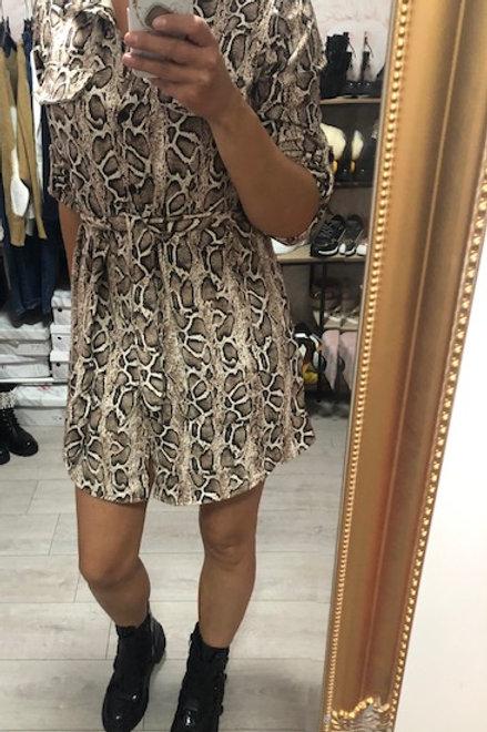 Snake Dress Beige