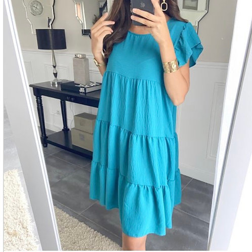 Losse jurk Blauw
