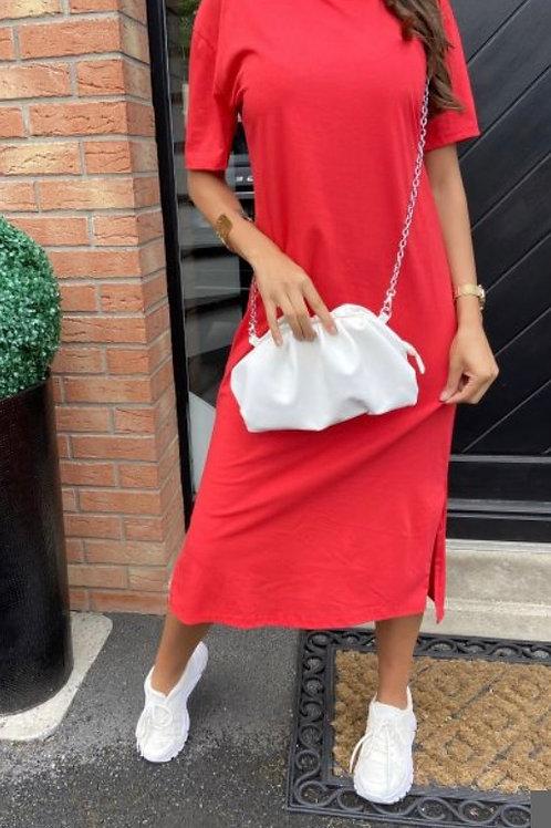 Shirt jurk Rood