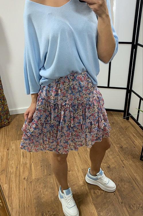 Flower skirt bleu
