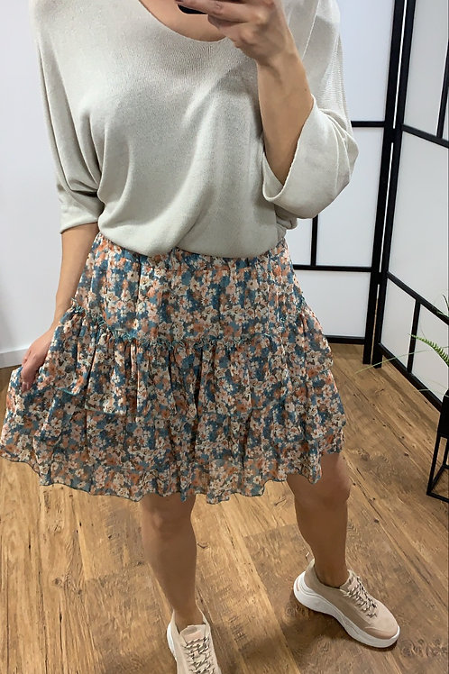 Flower skirt petrol