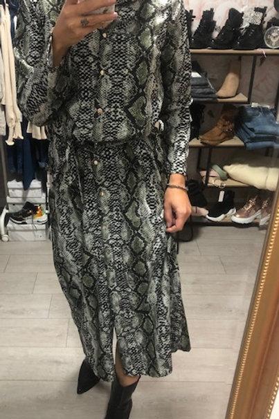 Lange jurk Snake