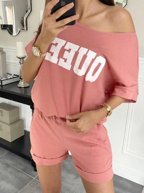 Setje short + shirt roze