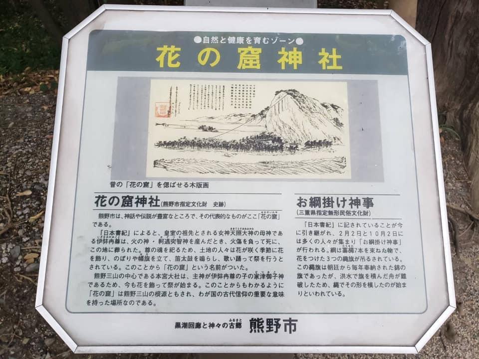花の窟神社解説板