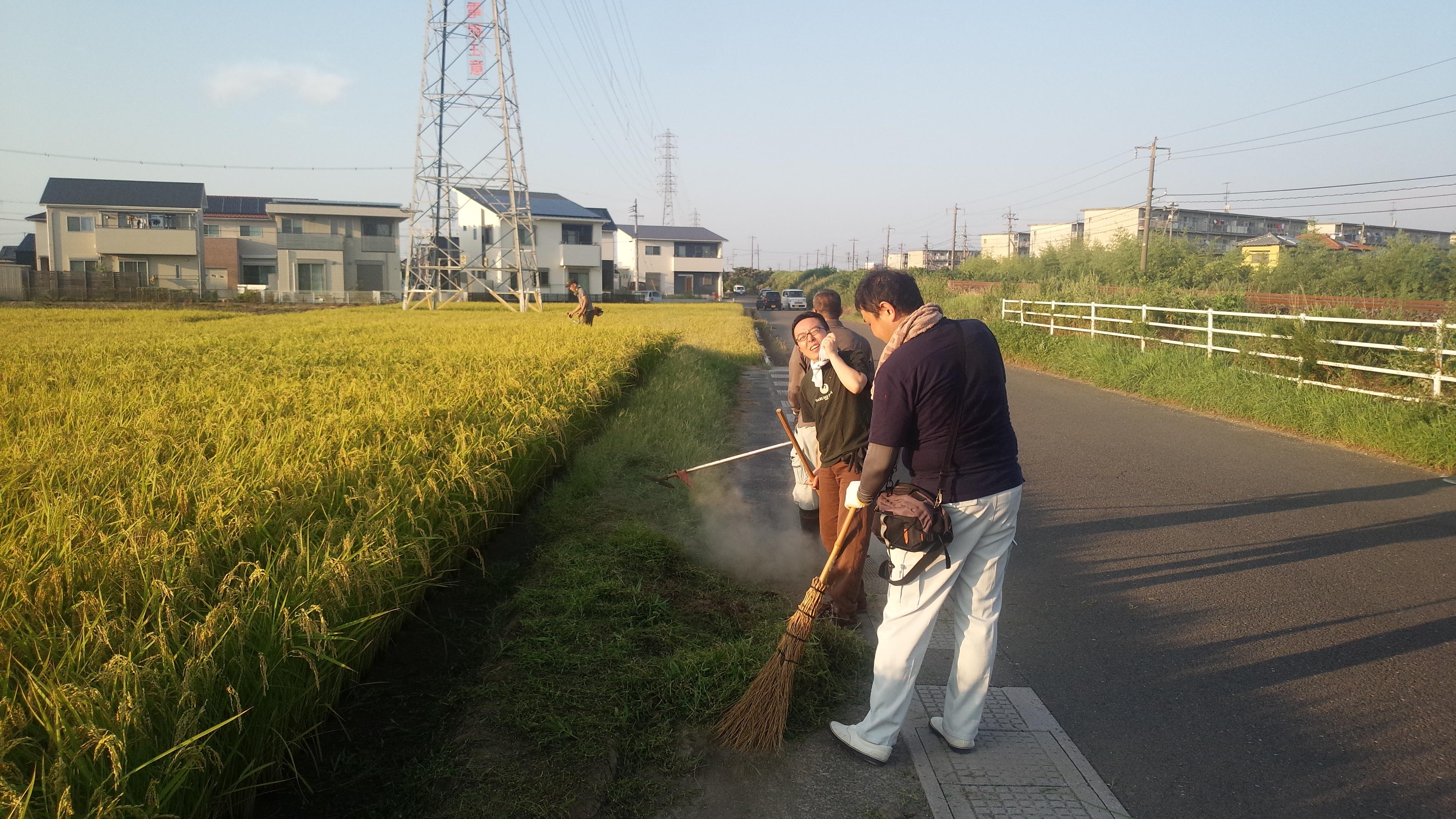 創立70周年記念事業「稲作」 草刈り作業