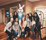 Chi Sigma Omega girls volunteering at Ronald McDonald House in Chicago