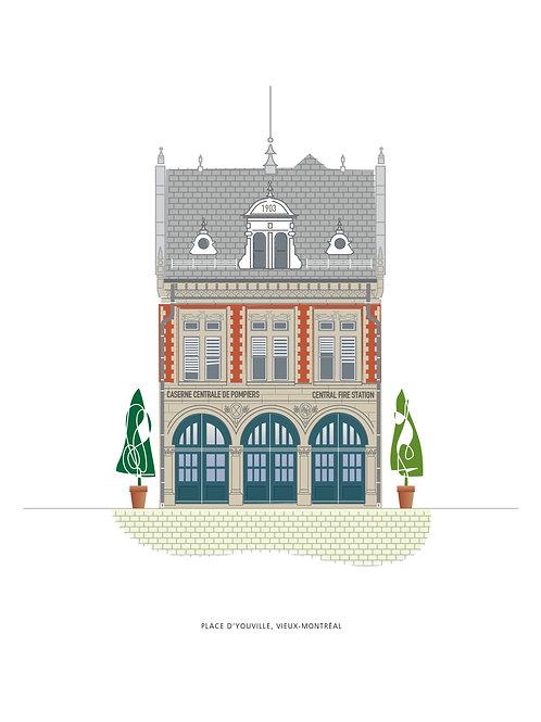 Affichette caserne, Place d'Youville
