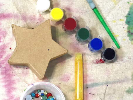 Galaxy Painted Star Trinket Box