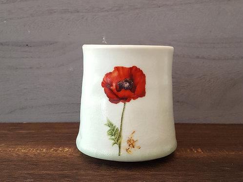 Tea Cup- Poppy Flower