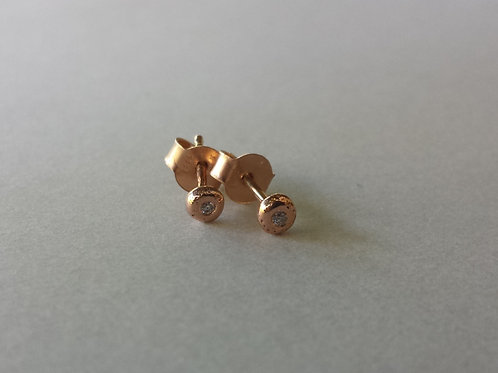 Small Sparkly Dot- Rose Round