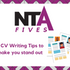 Five CV Writing Tips to make you stand out!