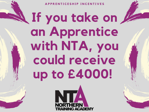 Your Business could now receive up to £4000 when hiring a new Apprentice!