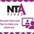 Five Remote Interview Tips to help you succeed!