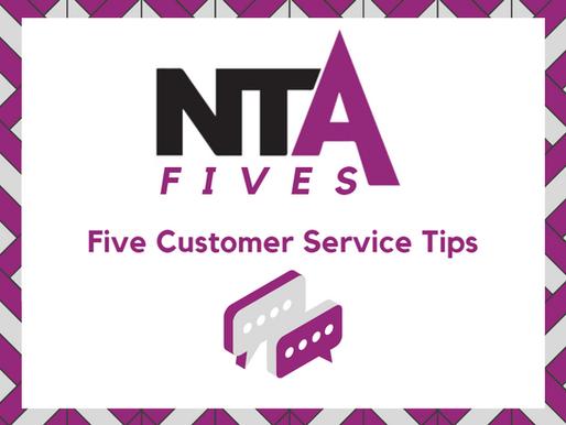 Five key customer service tips