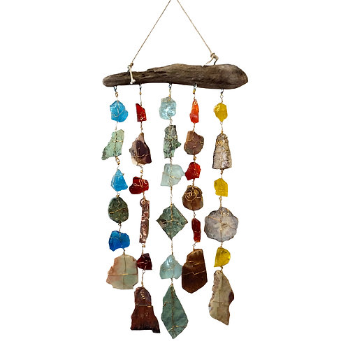 Wall Hanger with Crystals and Stones
