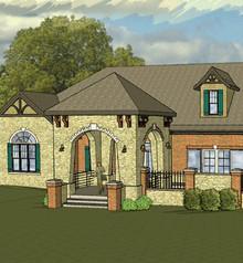 Digital rendering of custom home.