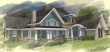 Digital rendering of a custom home.
