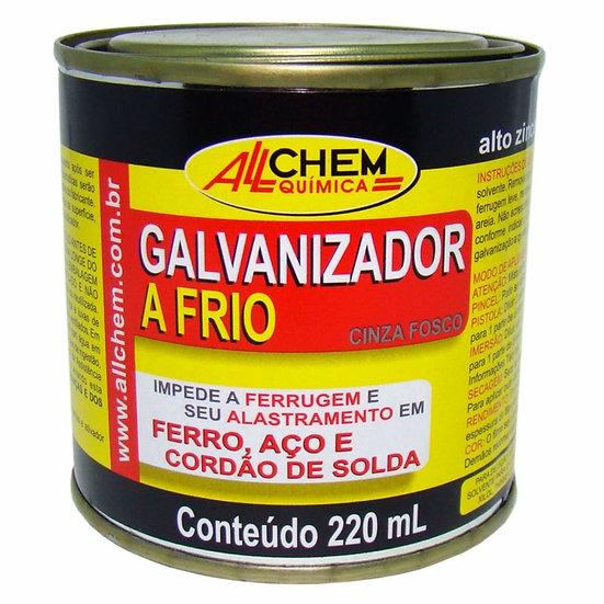 Galvanizador A Frio Cinza Fosco 220ml .- Allchem Química