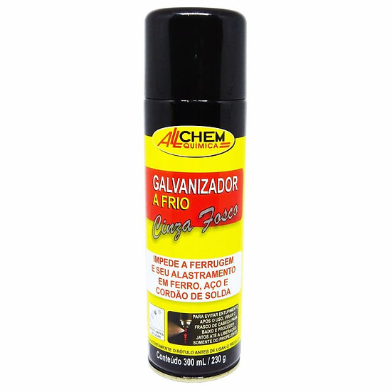 Galvanizador A Frio Cinza Fosco Spray 300ml. - Allchem Química