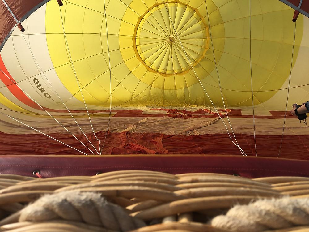 Startvorbereitungen für den Heißluftballon