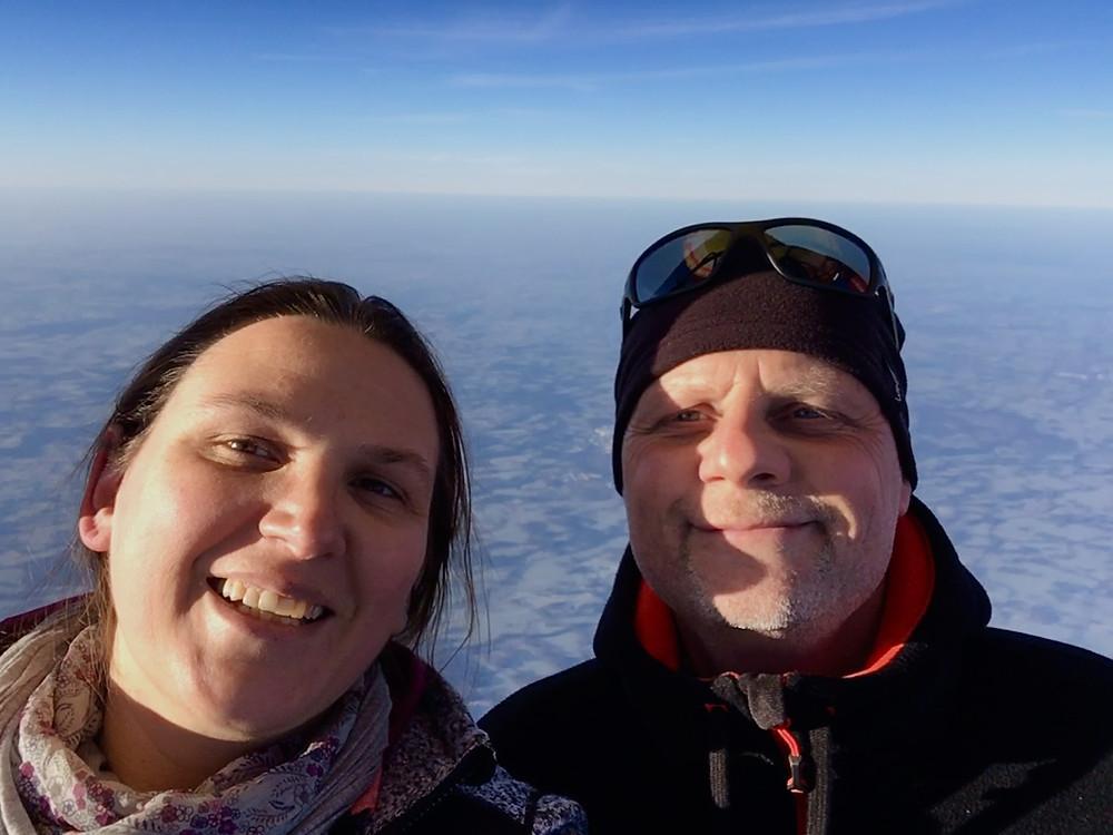 zu Zweit im Ballon auf 3.000m Höhe