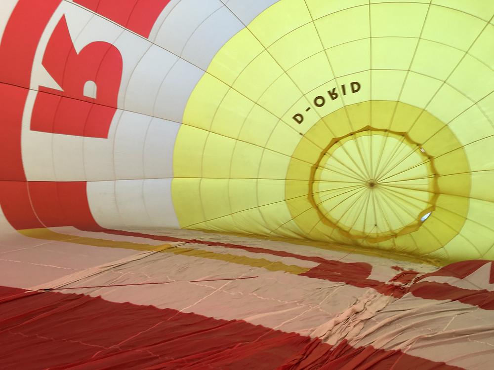Blick in den Heißluftballon