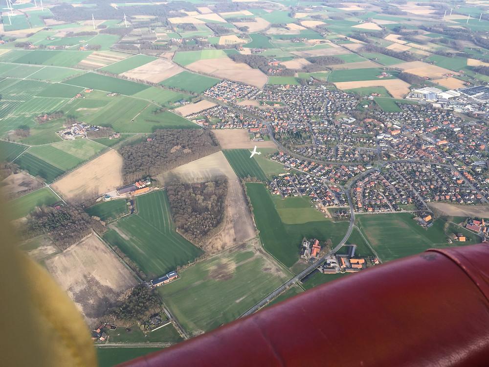 Blick aus dem Heißluftballon