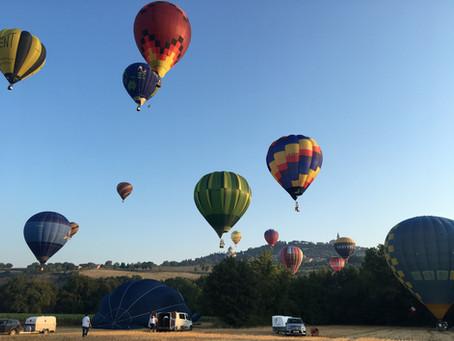 1. Ballonfahrt über Todi in Italien