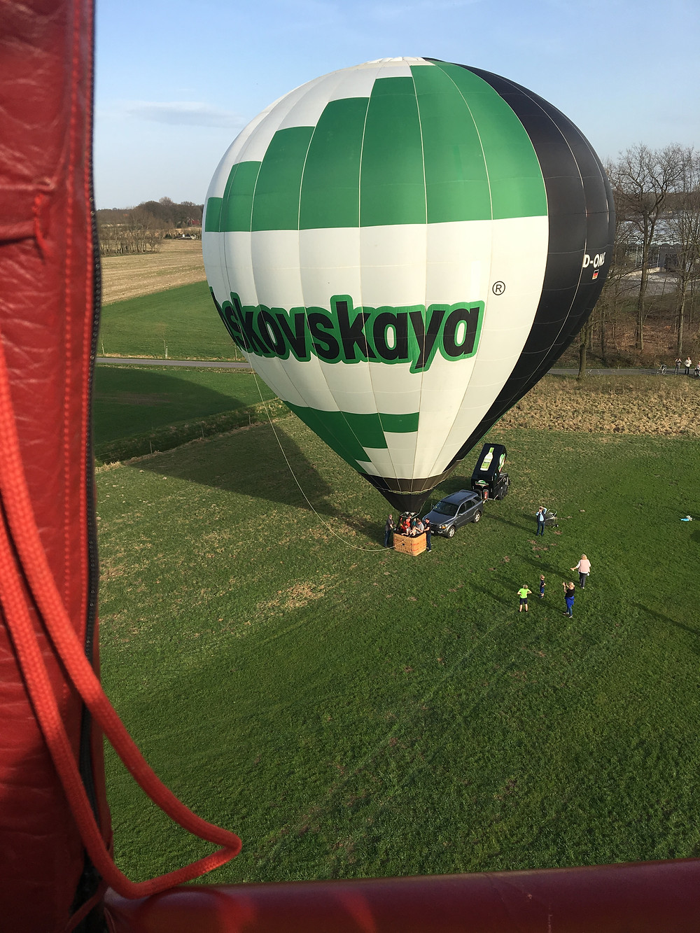 Himmelsriesen Ballonteam beim Start mit dem Moskovskaya Ballon