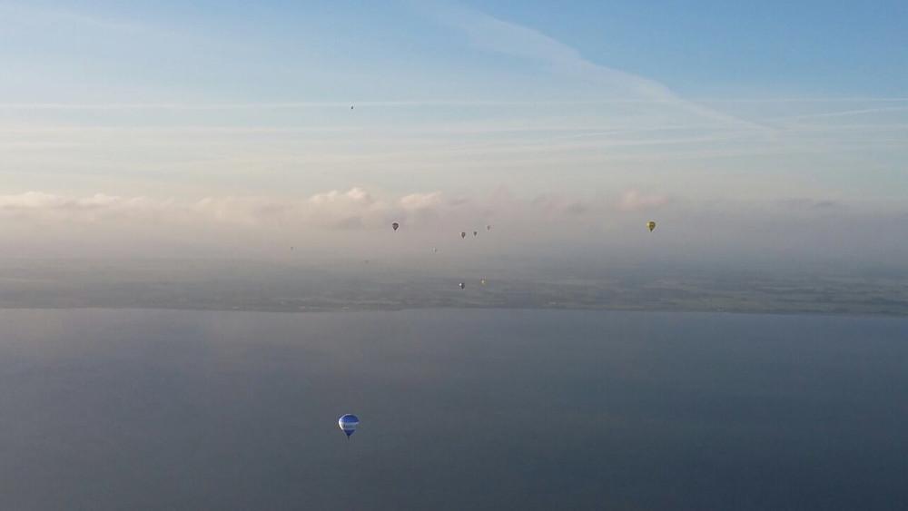 Ballonfahrt über den Jadebusen