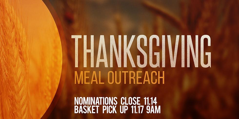 Thanksgiving Basket Outreach