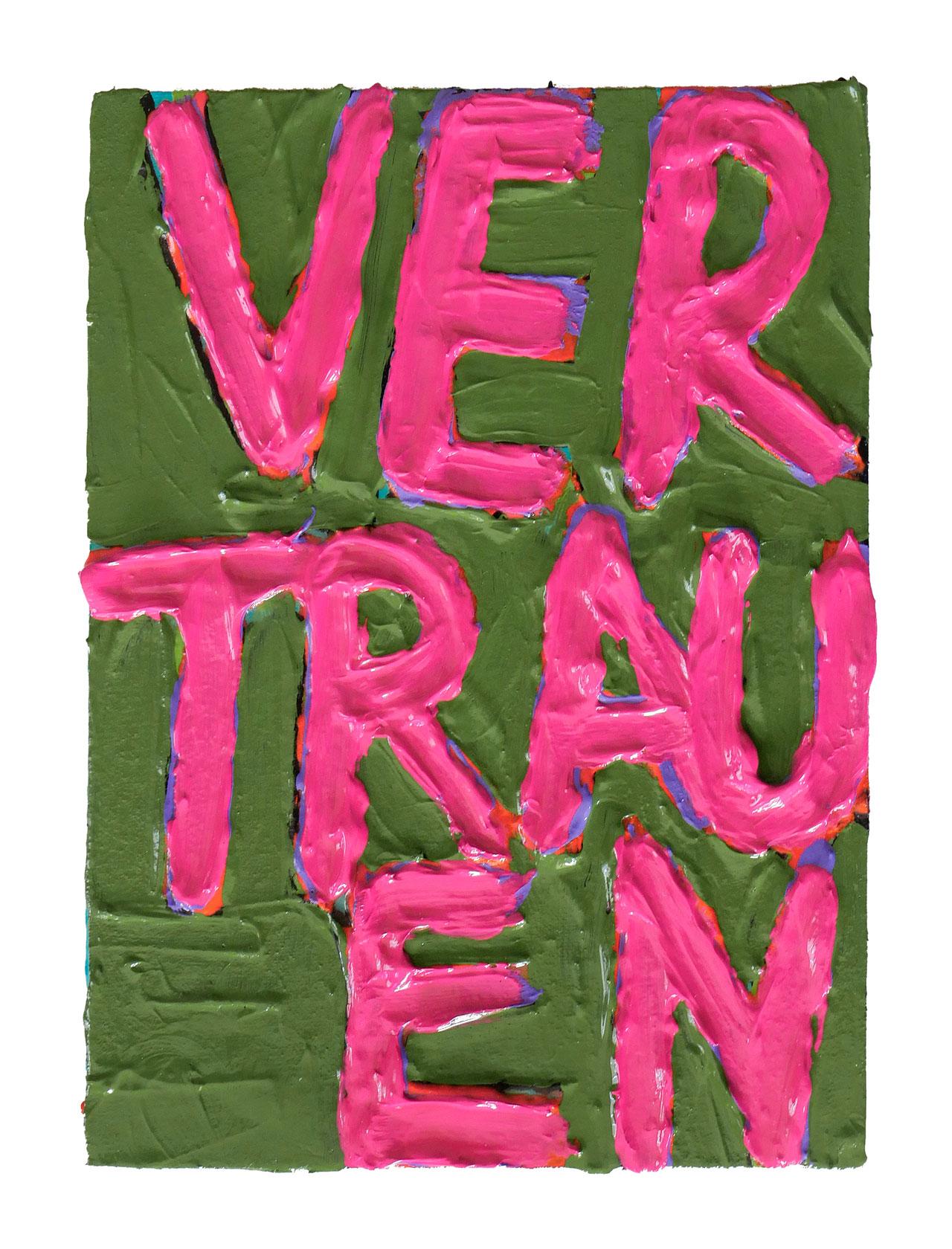 VERTRAUEN | 2019 © Kerstin Jeckel | TAFELBILD #171
