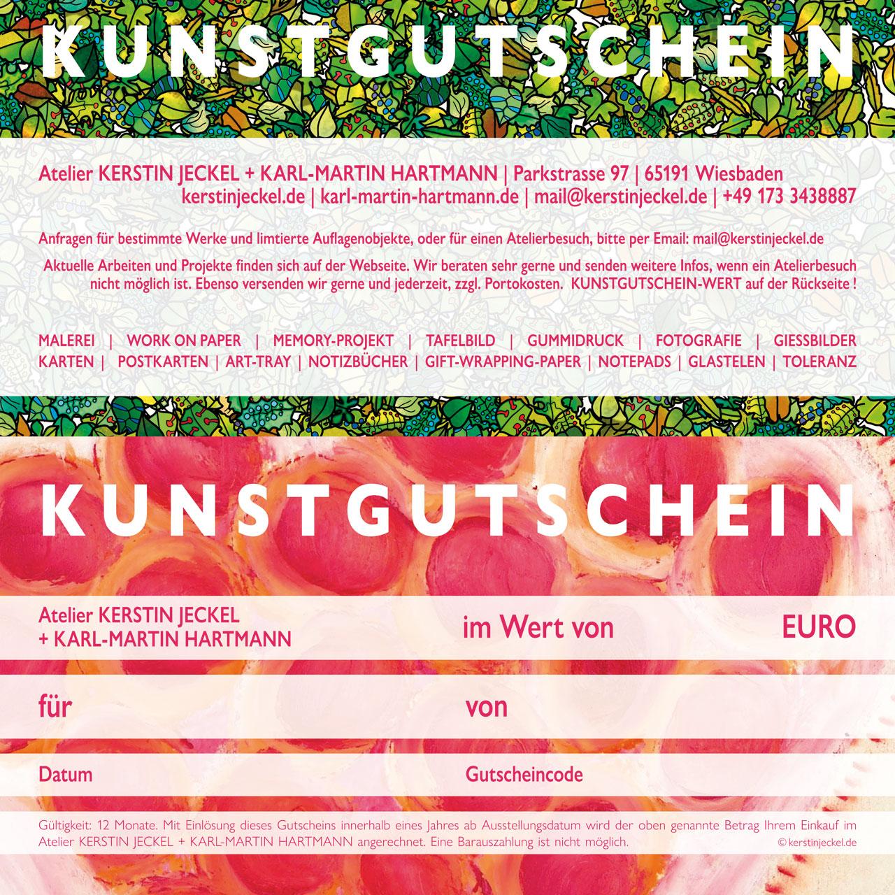 KUNSTGUTSCHEIN | © Kerstin Jeckel + Karl-Martin Hartmann | 2021
