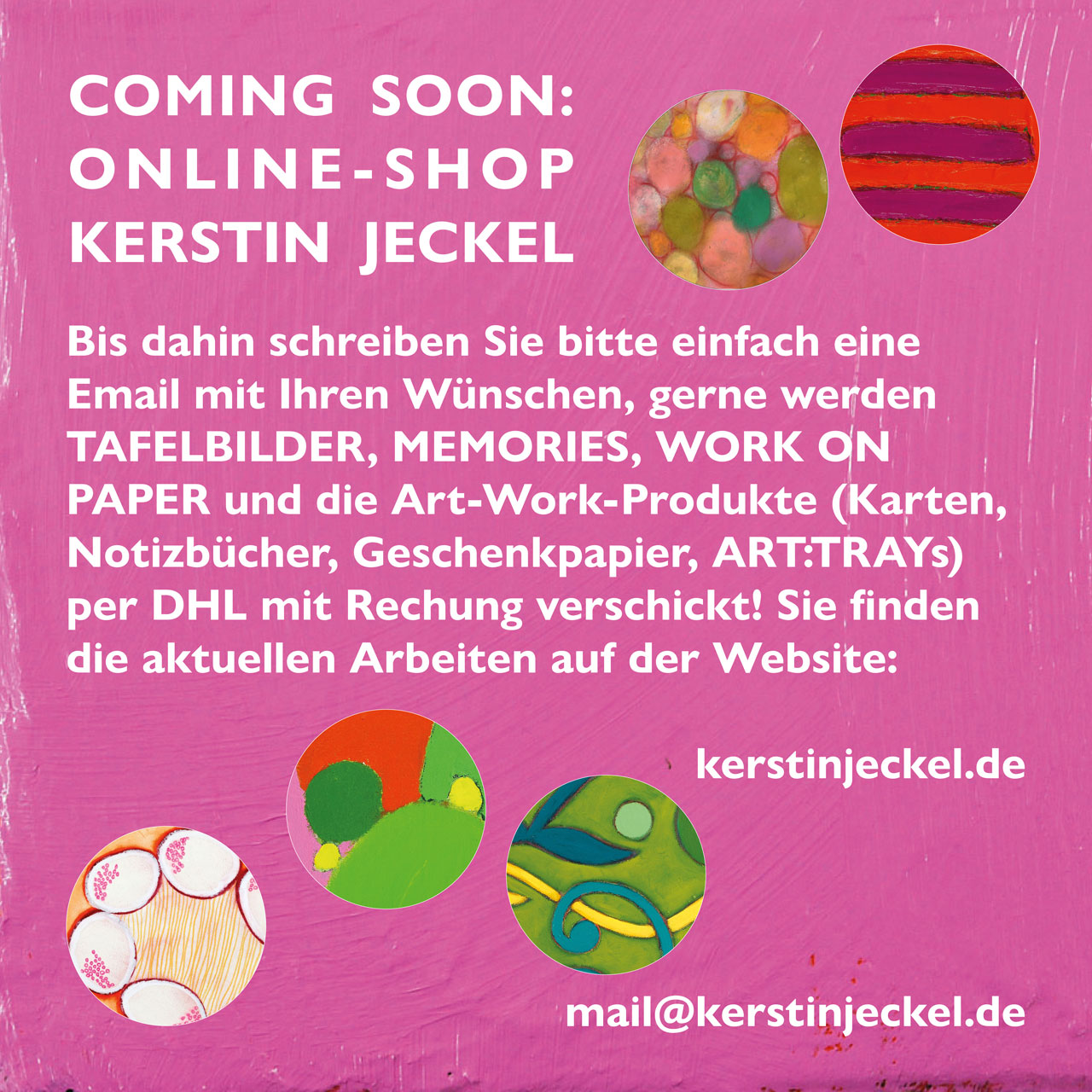 ONLINE SHOP - COMING SOON!