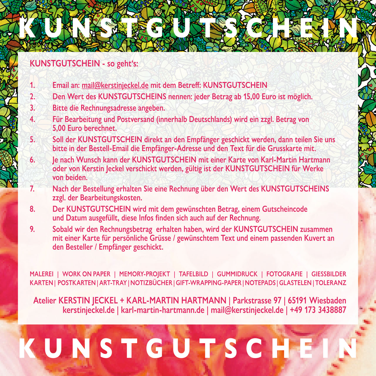 KUNSTGUTSCHEIN | HOW TO DO