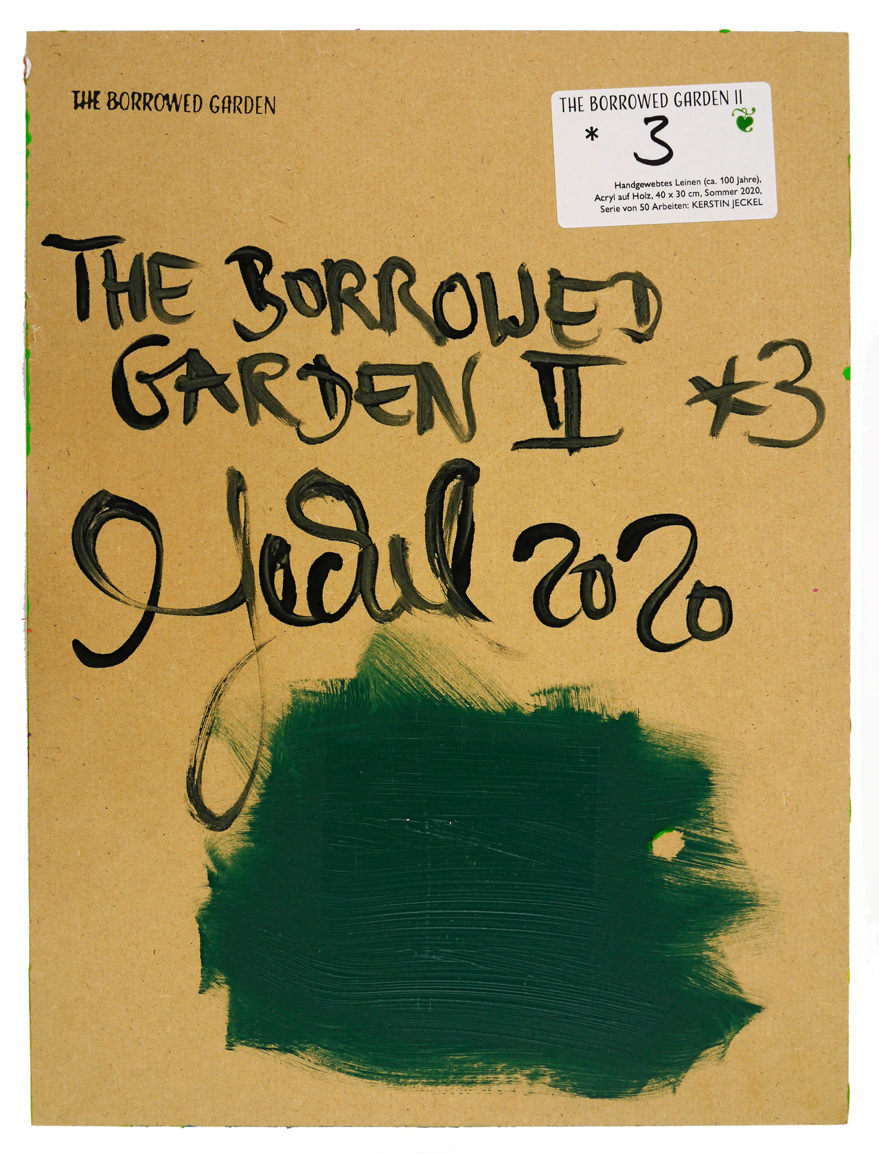 THE BORROWED GARDEN II * 3, back | 2020 © Kerstin Jeckel
