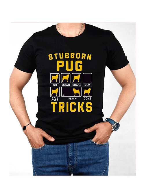 Stubborn Pug - Custom Shirt