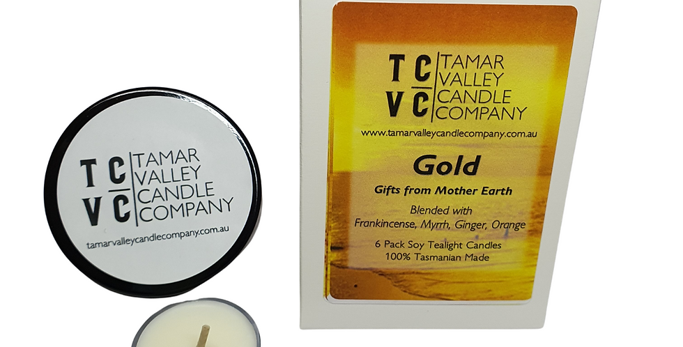 Gold Soy Tealights