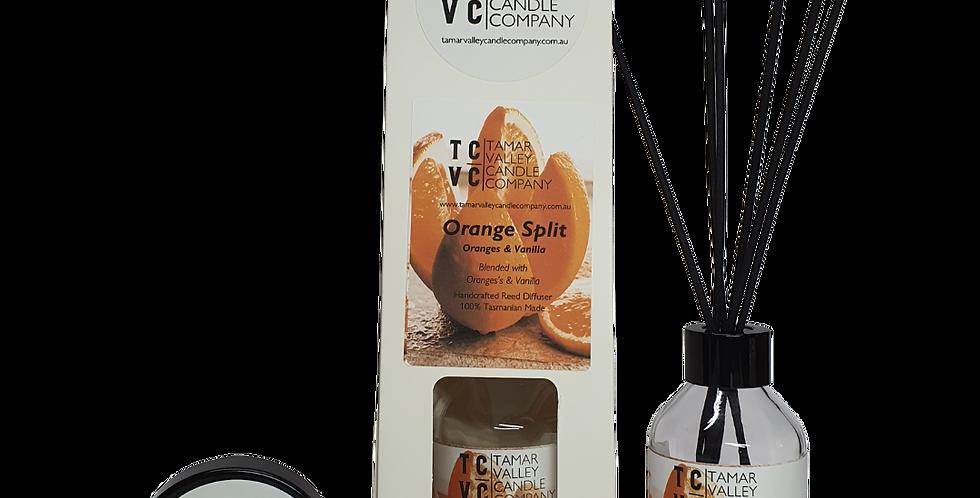 W/S Orange Split Reed Diffuser