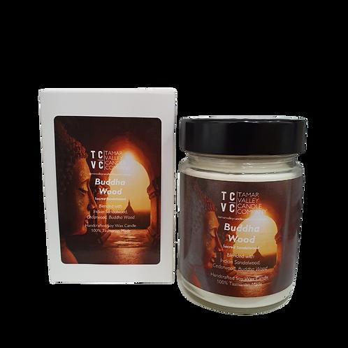 Buddha Wood Soy Candle