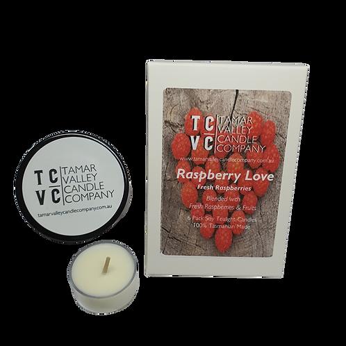 Raspberry Love Soy Tealights