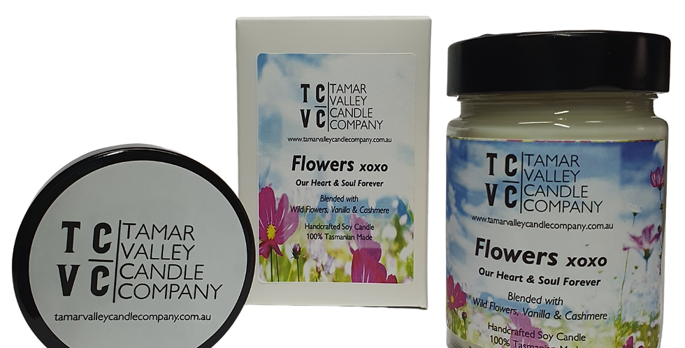 Flowers xoxo Soy Candle