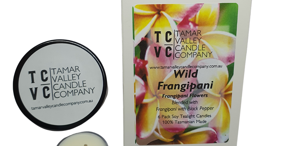 W/S Wild Frangipani Soy Tealights