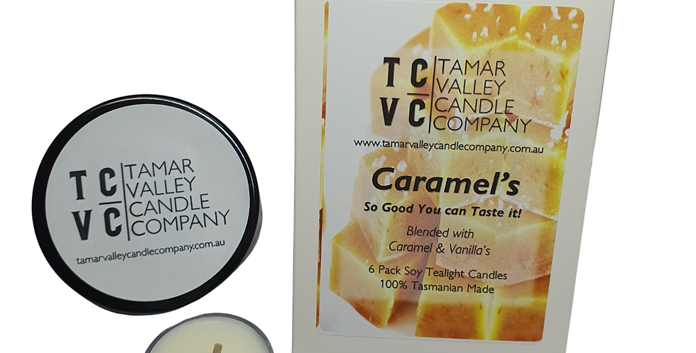 W/S Caramel's Soy Tealights