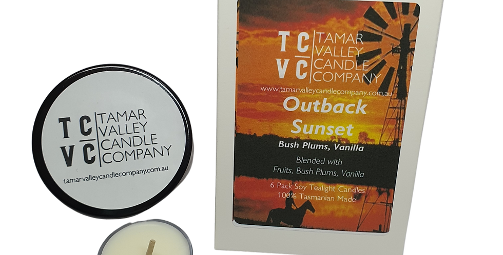 W/S Outback Sunset Soy Tealights
