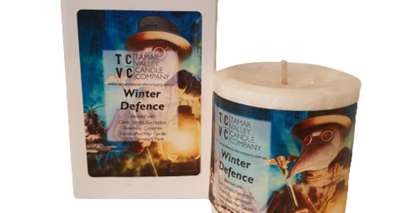 Winter Defence Pillar Candle