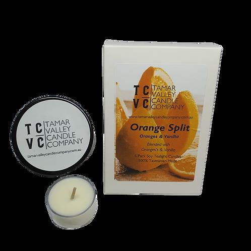 Orange Split Tealights