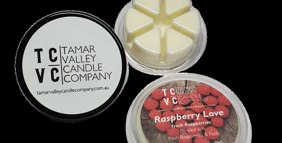 Raspberry Love Soy Wax Melts 6 Pack