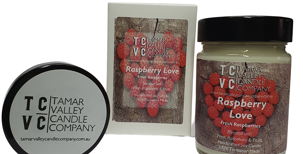 Raspberry Love Soy Candle